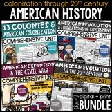 Early America - United States History Bundle   Digital + P