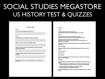 Early America and Revolution US History Test