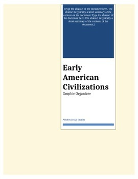 Early American Civilizations Questions and Graphic Organizer