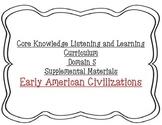 Early American Civilizations charts - Core Knowledge Domain 5