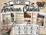 Early American Colonies Fact Cards