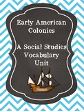 Early American Colonies: Social Studies Vocabulary Unit