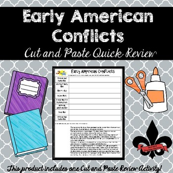 Early American ConflictsCut and Paste Review--NO PREP