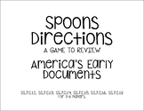 Early American Document Spoons Game