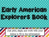 Early American Explorers Book