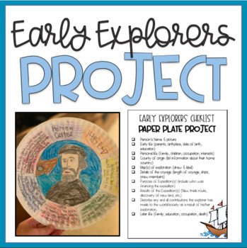 Early American Explorers: Paper Plate Biography & Research Project