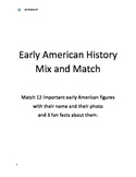 Early American History Important Figures Mix and Match