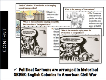 Experiencing Early American History Political Cartoons Middle School