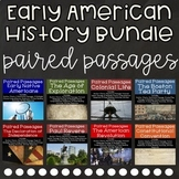 Early American History Reading Comprehension Paired Passages {Bundle}