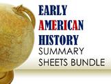 Early American History Summary Sheets Bundle