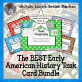 Early American History Task Card Set Bundle
