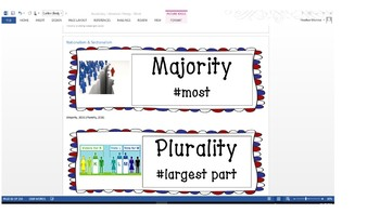 Early American History Vocabulary Cards