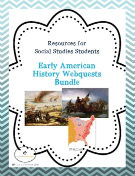 American History Webquests Bundle of Three