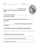Early American History Worksheet