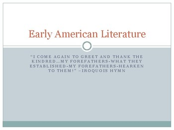 Early American Literature PowerPoint Guide