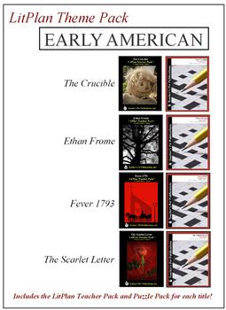 Early American Novel Unit Theme Pack Bundle