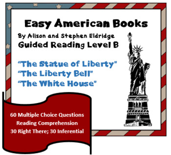 Early American Readers - reading comprehension BUNDLE - 3 Level B books