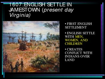 Early American Settlement