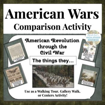 Early American Wars Comparison Activity Walking Tour Revol