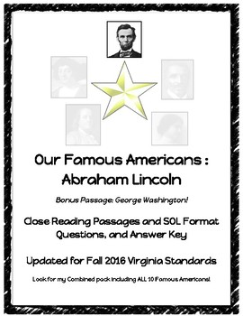 Early Americans : Abraham Lincoln Close Reading Passage