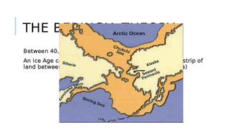 Early Americans Beringia Theory PPT