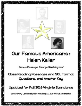 Early Americans : Helen Keller Close Reading Passage