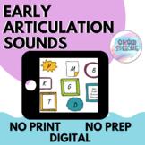 Early Articulation Sounds | No Prep No Print Digital | Dis