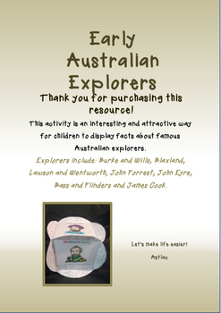 Early Australian Explorers Cube