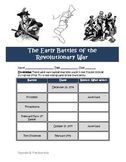 Early Battles Revolutionary War Printable and Map Activity