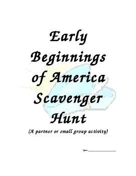 Early Beginnings of America Scavenger Hunt