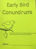 Early Bird Conundrums - Booklet (editable)