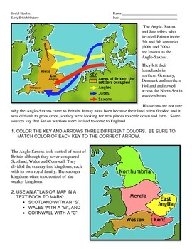 Early Britain - Angles, Saxons to Norman Conquest