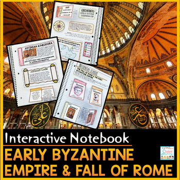 Byzantine Empire Interactive Notebook - Fall of Rome