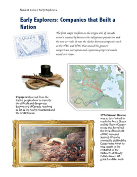 Early Canadian Explorers: the Companies that Built a Nation