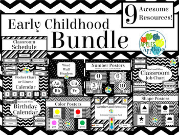 Early Childhood BUNDLE in Black and White Theme