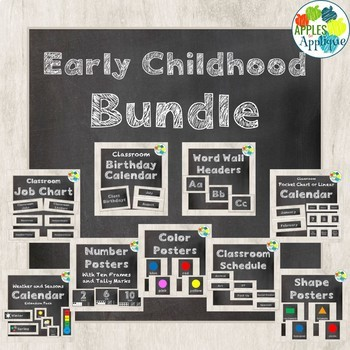 Early Childhood BUNDLE in Chalkboard Theme