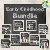 Early Childhood Classroom Decor BUNDLE in Chalkboard Theme