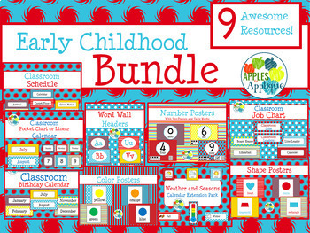 Early Childhood BUNDLE in Primary Colors Theme