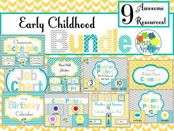 Early Childhood BUNDLE in Yellow, Teal, and Gray