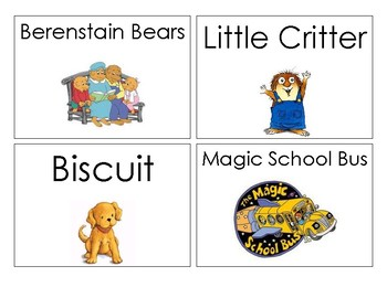 Early Childhood Book Basket Labels