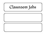 Early Childhood Classroom Jobs Chart