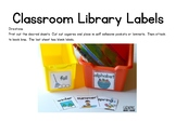 Early Childhood Classroom Library Labels
