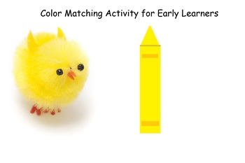 Early Childhood Color ID and Matching w/extension for Gifted Toddlers
