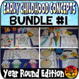 Early Childhood Concepts Bundle Preschool Centers Activiti