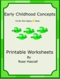 Opposites Kindergarten Morning Work Worksheets Emergency Sub Plans Homework