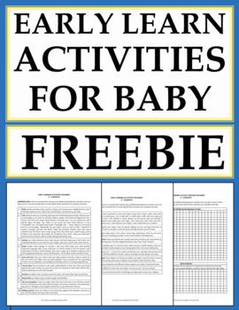 Early Childhood Development Activities Free Printable