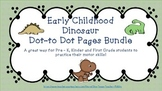 Early Childhood Dino Dot to Dot Packet