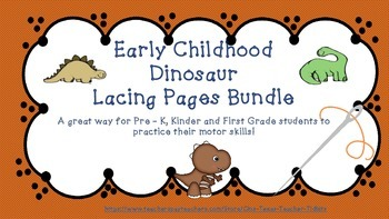 Early Childhood Dinosaur Lacing Bundle