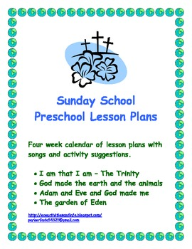Early Childhood Education Sunday School Lesson Plans