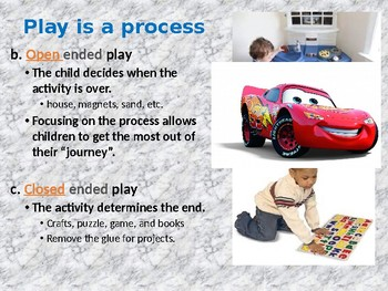 Early Childhood Education A Unit 2 day 2 power point Value of Play